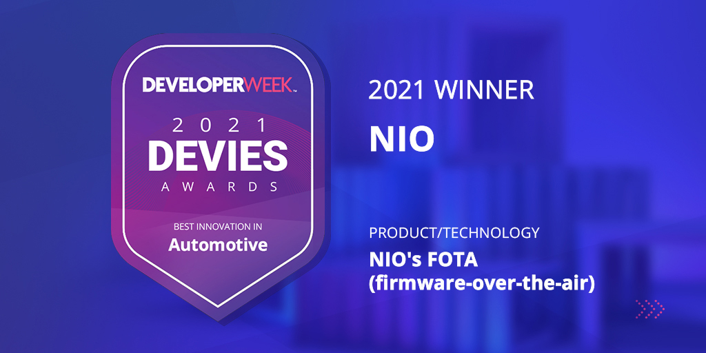 NIO Awarded 2021 DEVIES Award for its Automotive Innovation